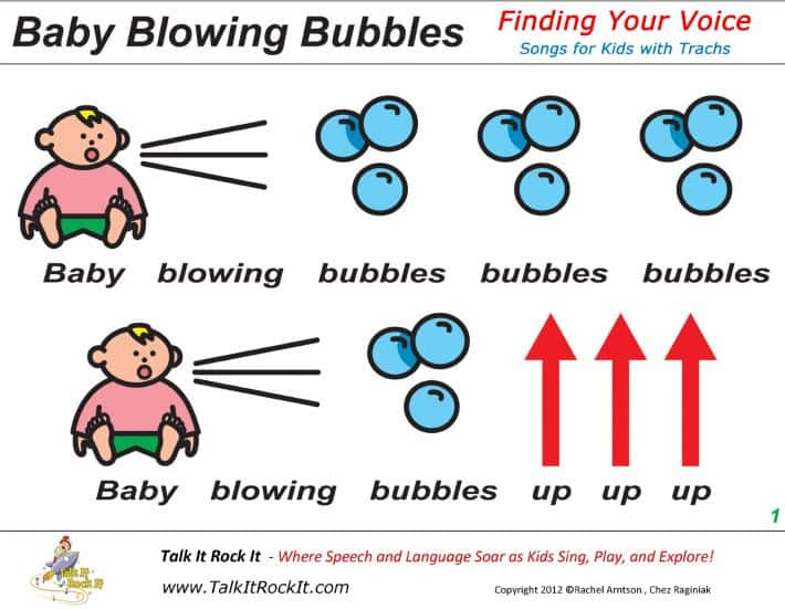 tracheostomyeducation.com pediatric tracheostomy songs baby blowing bubbles large follow along sheet