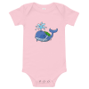whale with oxygen on his back shirt-pink